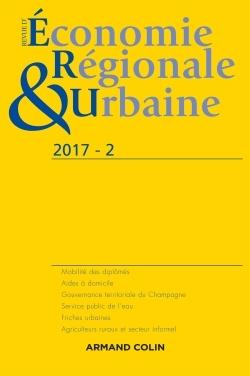 REVUE D'ECONOMIE REGIONALE ET URBAINE N  2/2017 VARIA