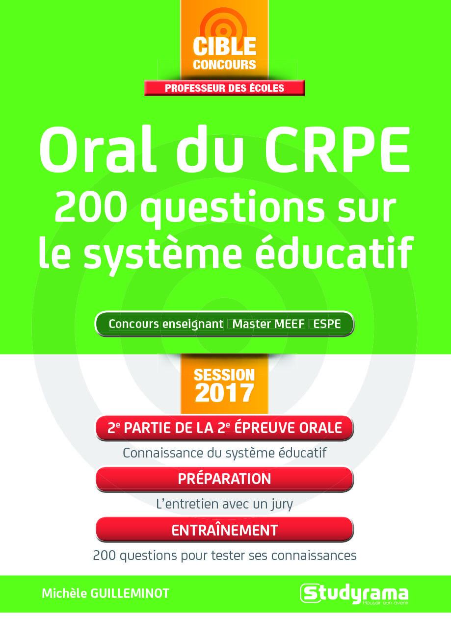 ORAL DU CRPE 200 QUESTIONS SUR LE SYSTEME EDUCATIF