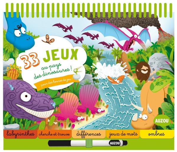 33 JEUX AU PAYS DES DINOSAURES ! (COLL. BLOC-NOTES)