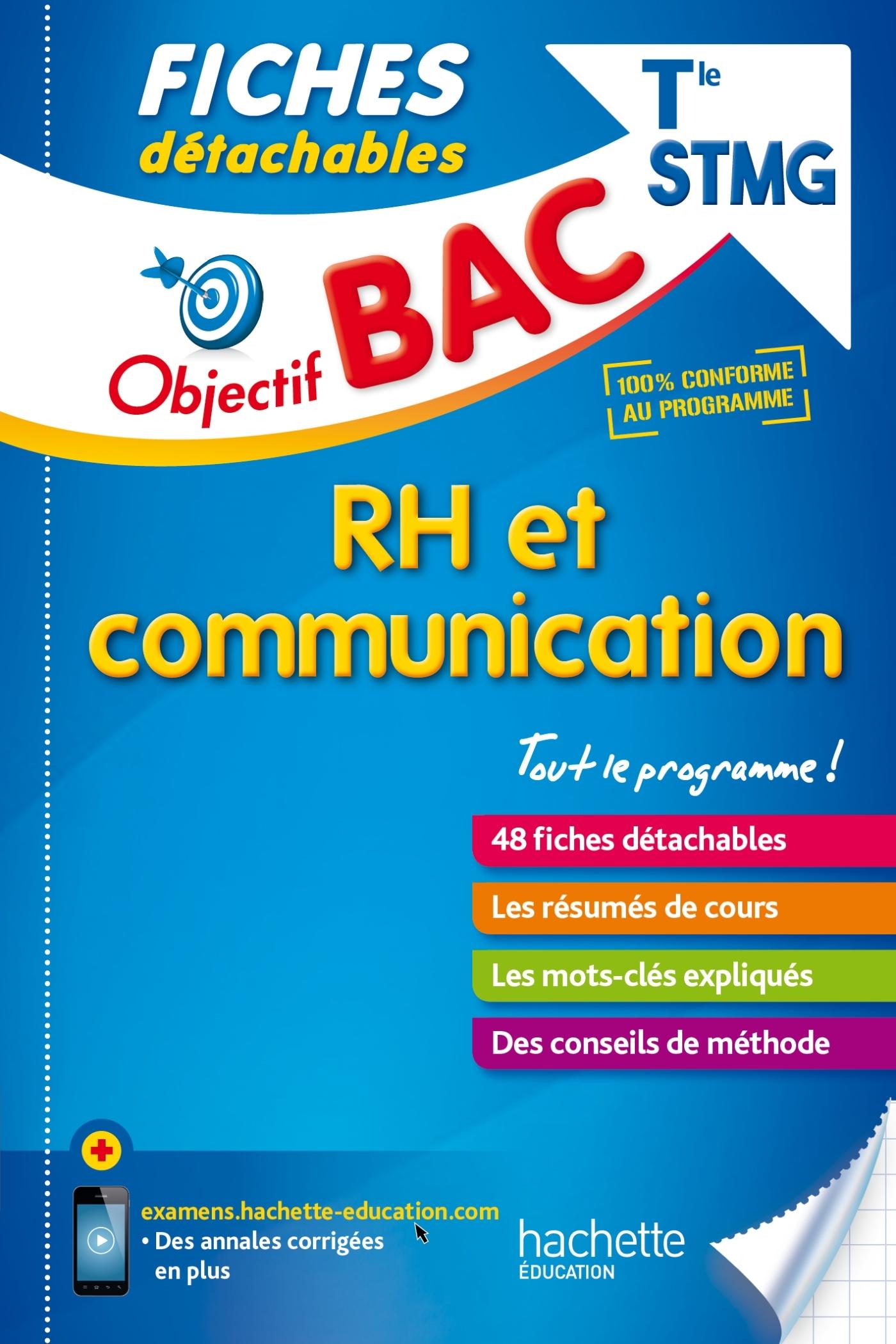 OBJECTIF BAC FICHES DETACHABLES RH ET COMMUNICATION TERM STMG