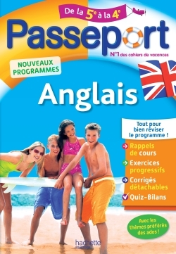 PASSEPORT - ANGLAIS DE LA 5E A LA 4E
