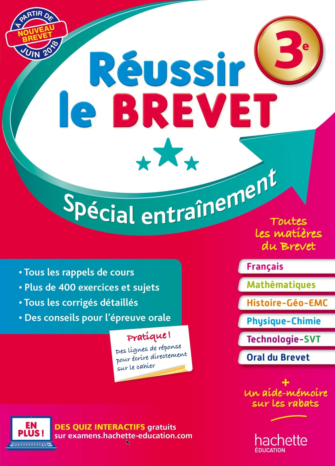 REUSSIR LE BREVET SPECIAL ENTRAINEMENT