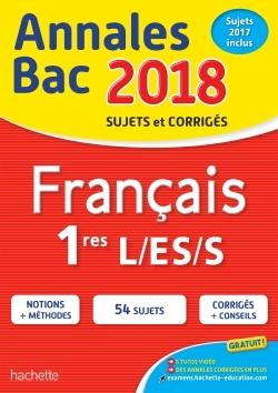 ANNALES BAC 2018 FRANCAIS 1ERES