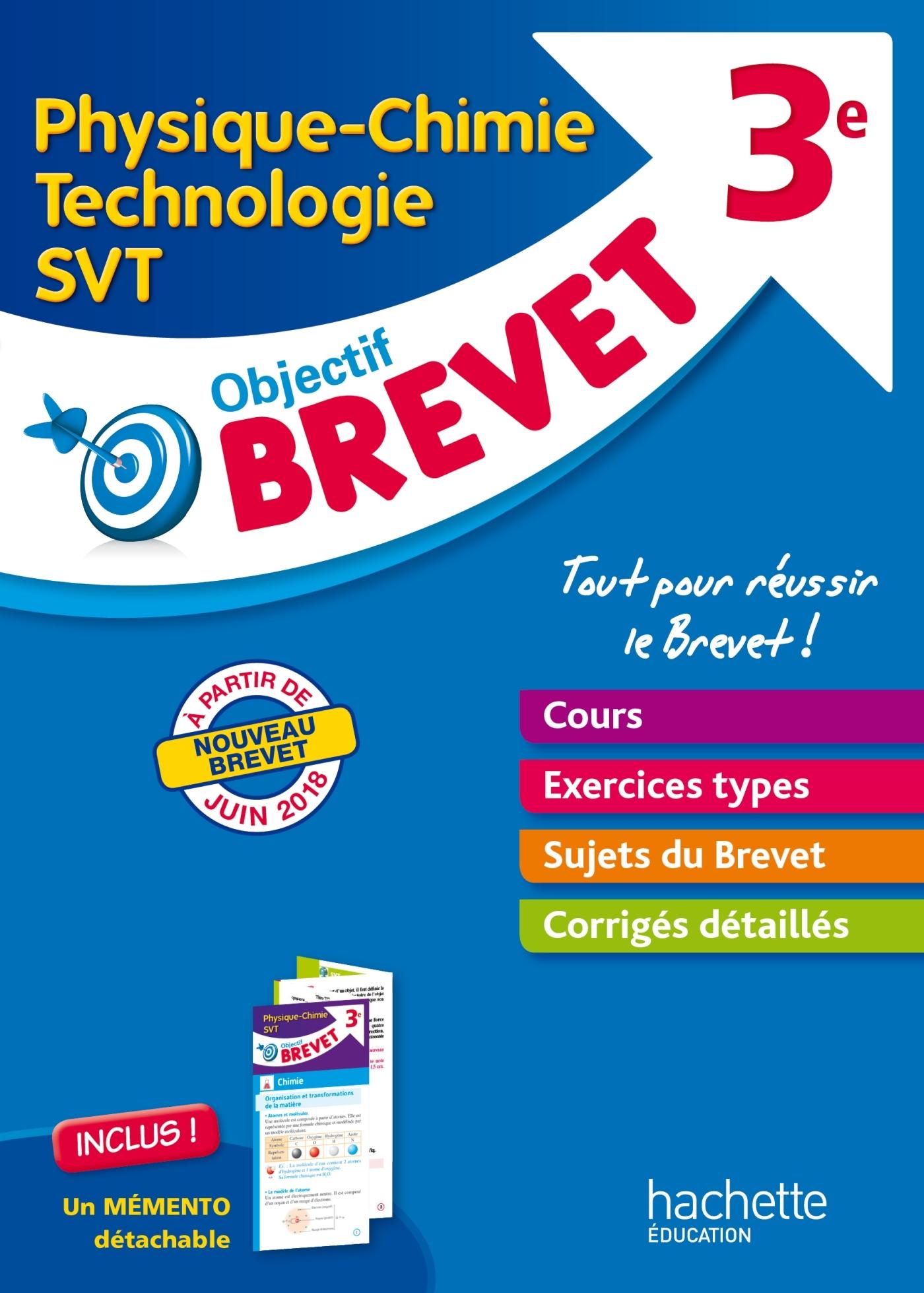 OBJECTIF BREVET - L'EPREUVE DE PHYSIQUE-CHIMIE-SVT-TECHNOLOGIE   DEPLIANT