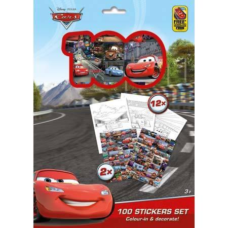 100 STICKERS HOLOGRAF DISNEY/CARS