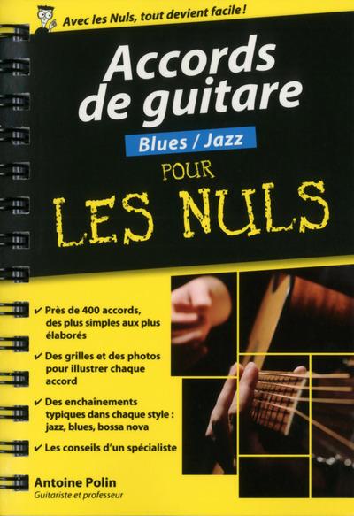 ACCORDS DE GUITARE  BLUES/JAZZ POCHE POUR LES NULS