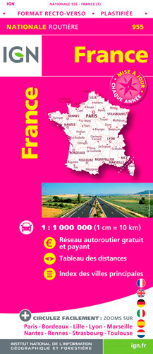 1M955 FRANCE ROUTIERE MAXI FORMAT PLASTIFIEE 2018