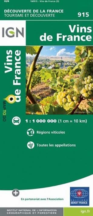 1M915 VINS DE FRANCE  1/1M