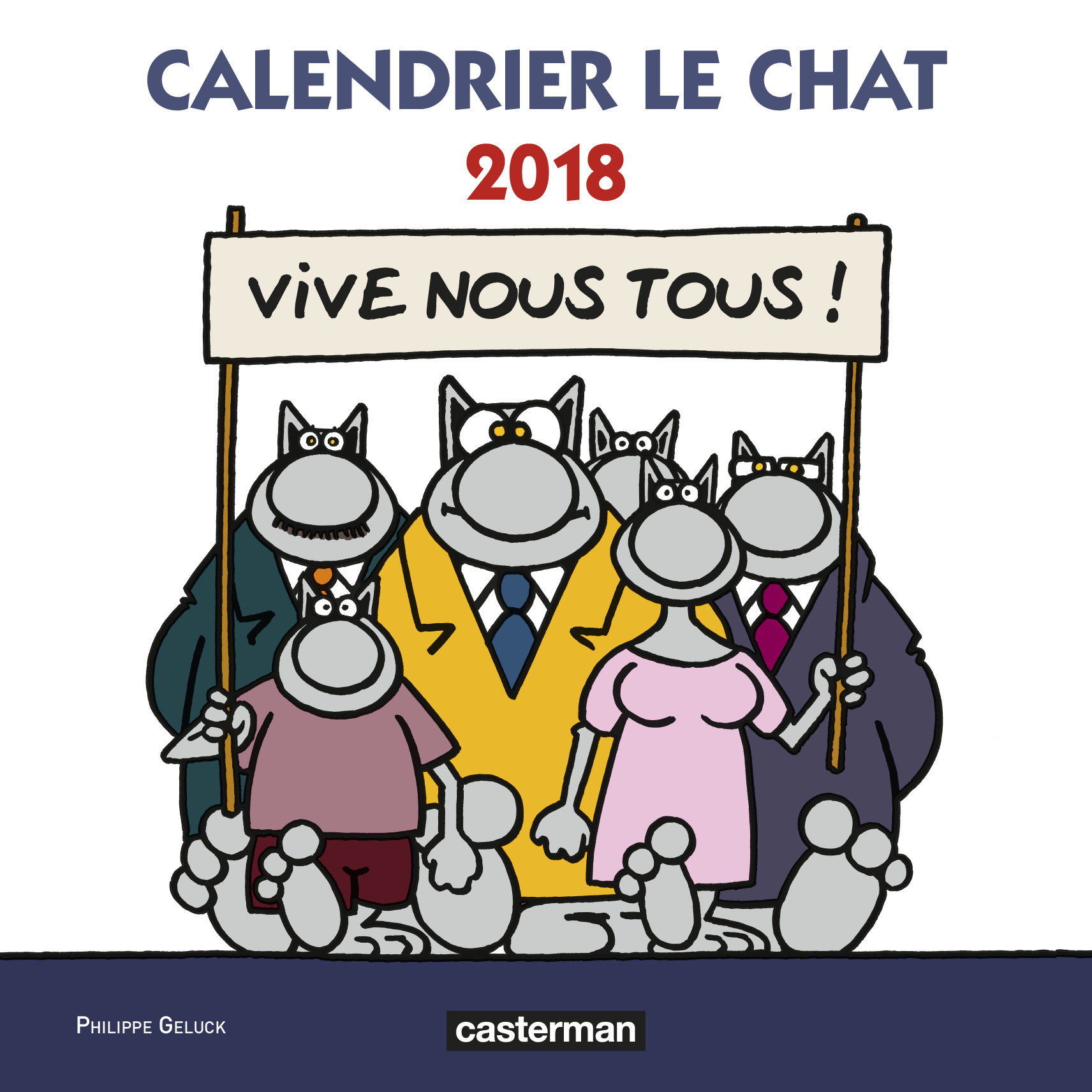 CALENDRIER  LE CHAT 2018