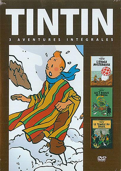 TINTIN 3 AVENTURES : ETOILE MYSTERIEUSE - 7 BOULES CRISTAL - TEMPLE SOLEIL