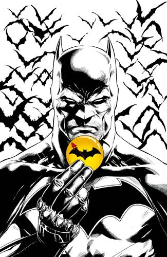 "BATMAN REBIRTH 11 VC ""LE BADGE"" 1/2"