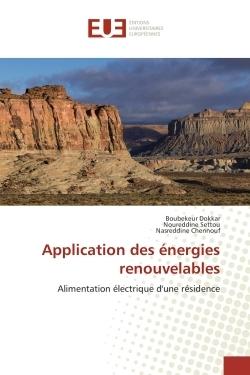 APPLICATION DES ENERGIES RENOUVELABLES
