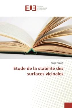 ETUDE DE LA STABILITE DES SURFACES VICINALES