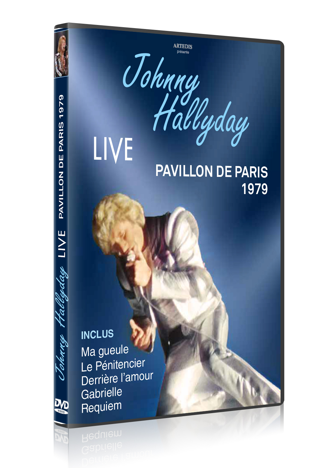 JOHNNY HALLIDAY LIVE PAV PARIS 1979 - DVD