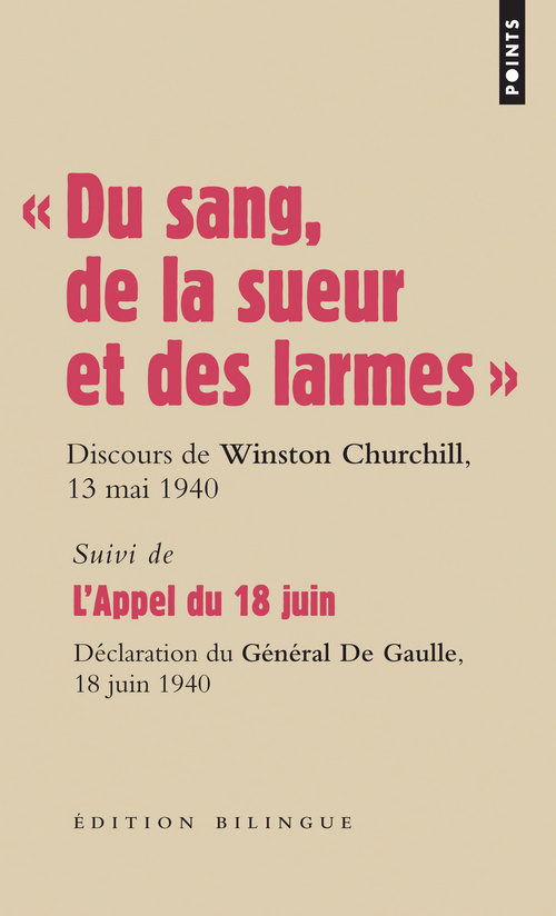 """"""" DU SANG, DE LA SUEUR ET DES LARMES """". DISCOURS D"""