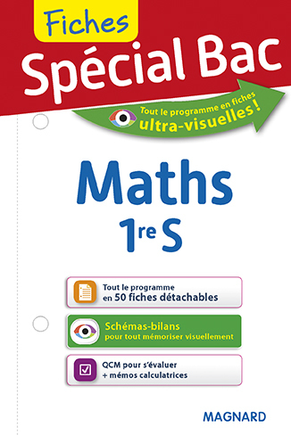 2017 SPECIAL BAC FICHES MATHS 1ER S