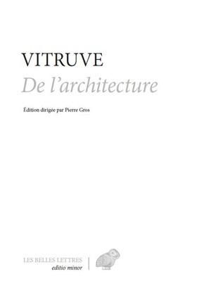 DE L'ARCHITECTURE
