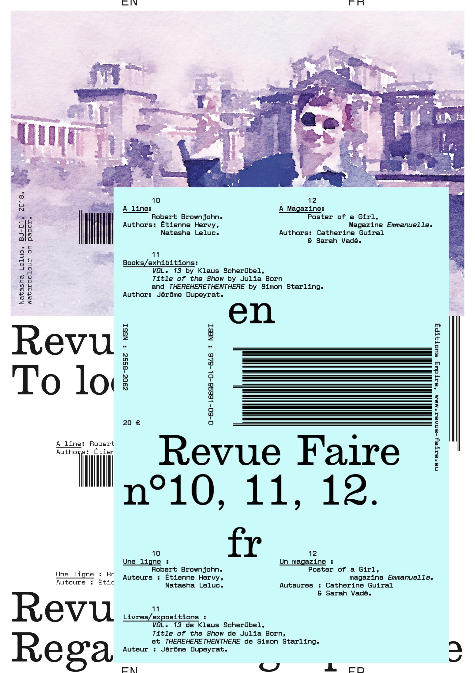 FAIRE - REGARDER LE GRAPHISME - VOLUME 03 (N  10, 11, 12)