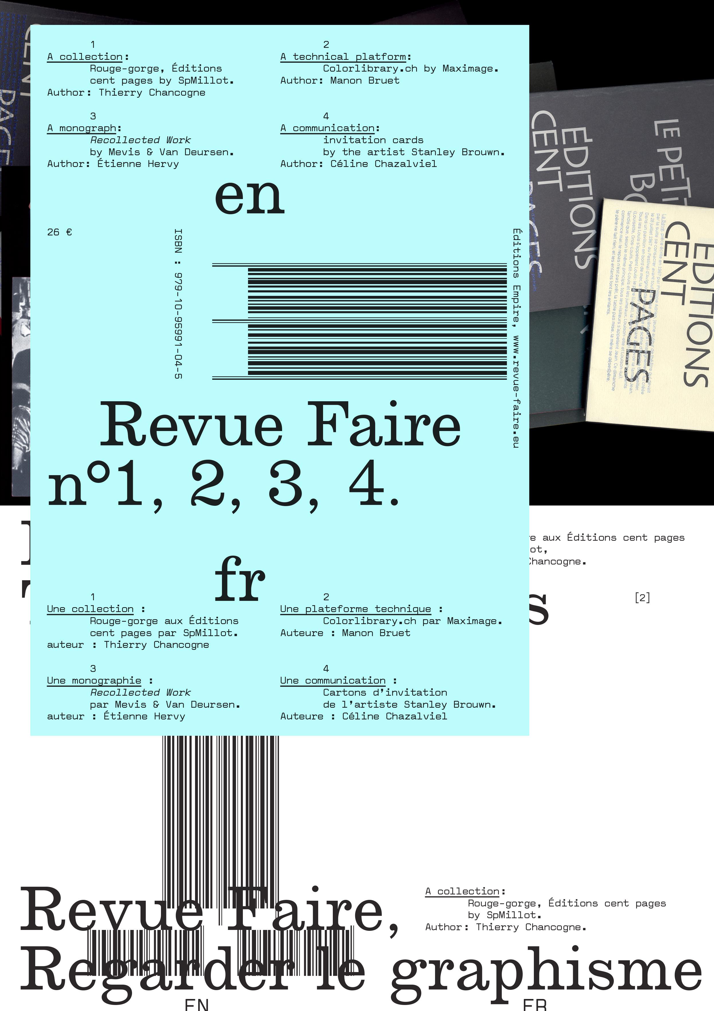 FAIRE - REGARDER LE GRAPHISME N  01 (VOL. 1, 2, 3, 4)
