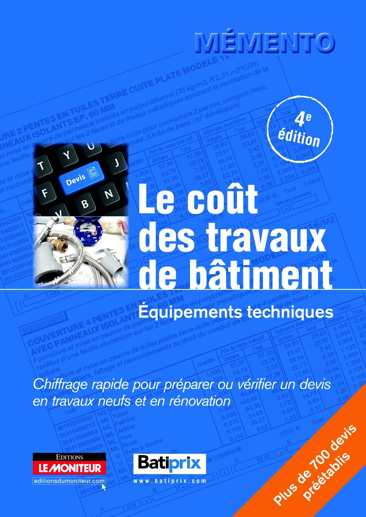 LE COUT DES TRAVAUX DE BATIMENT - EQUIPEMENTS TECHNIQUES