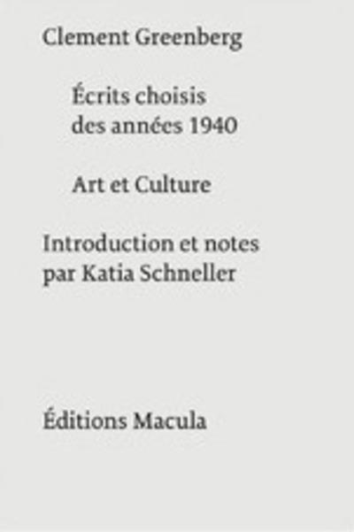 ECRITS CHOISIS DES ANNEES 1940 - ART ET CULTURE