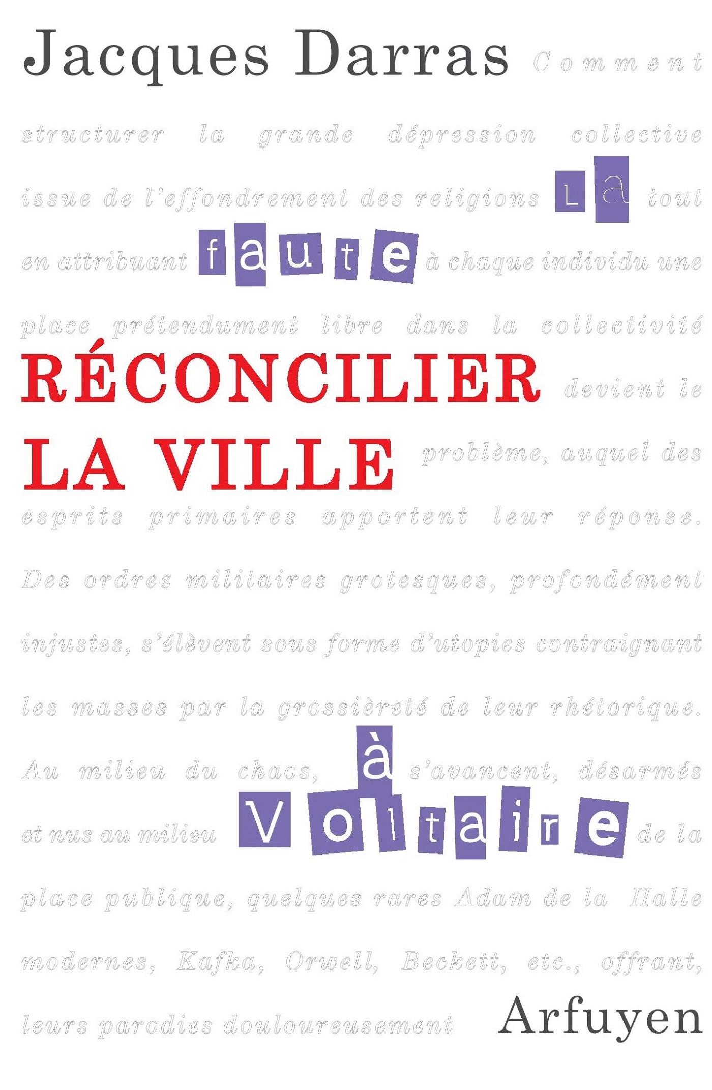 RECONCILIER LA VILLE