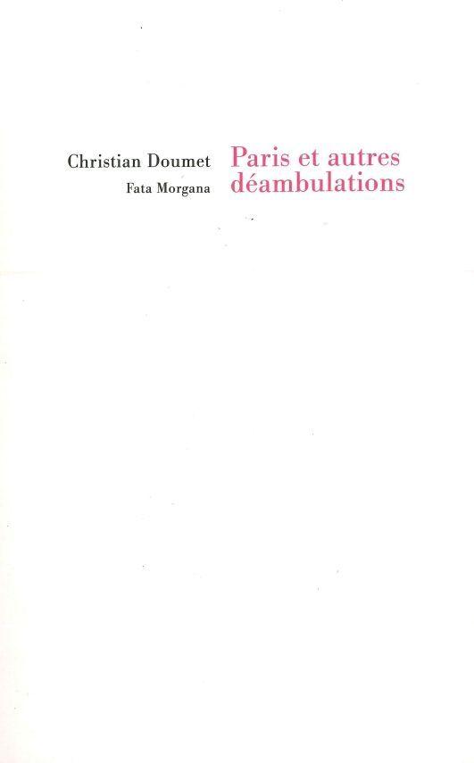 PARIS ET AUTRES DEAMBULATIONS