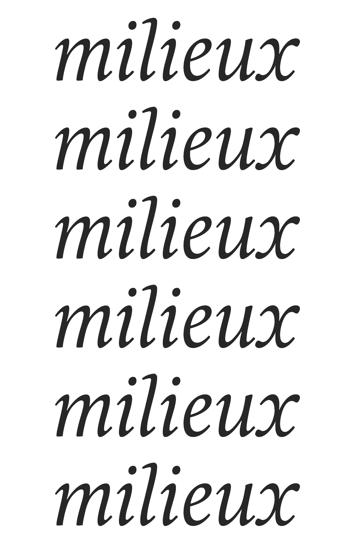 MILIEUX & CREATIVITES