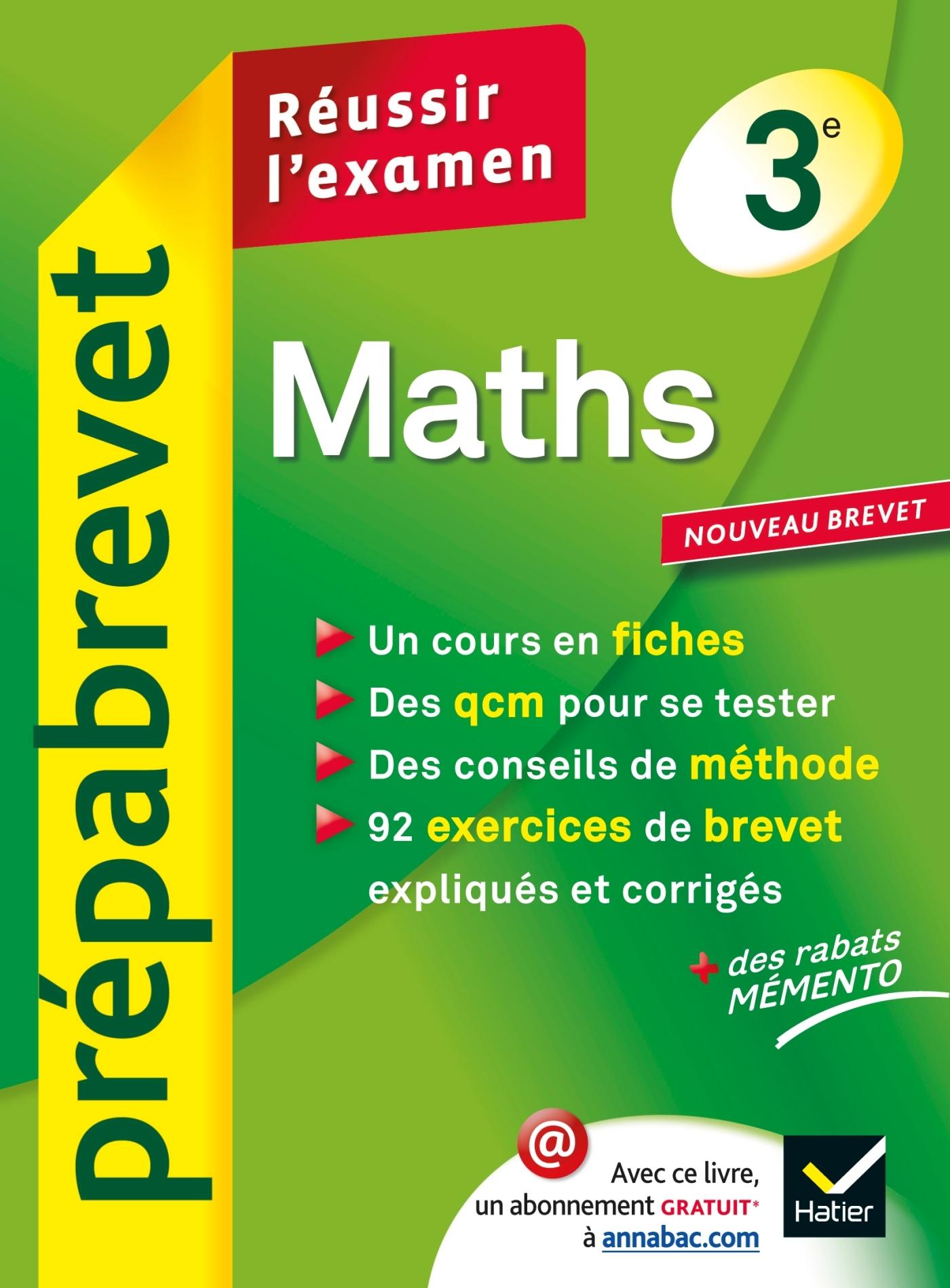 MATHS 3E - PREPABREVET REUSSIR L'EXAMEN