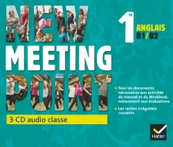 NEW MEETING POINT ANGLAIS 1RE ED. 2015 - 3 CD AUDIO CLASSE
