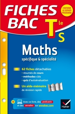 FICHES BAC MATHS TLE S (SPECIFIQUE & SPECIALITE)