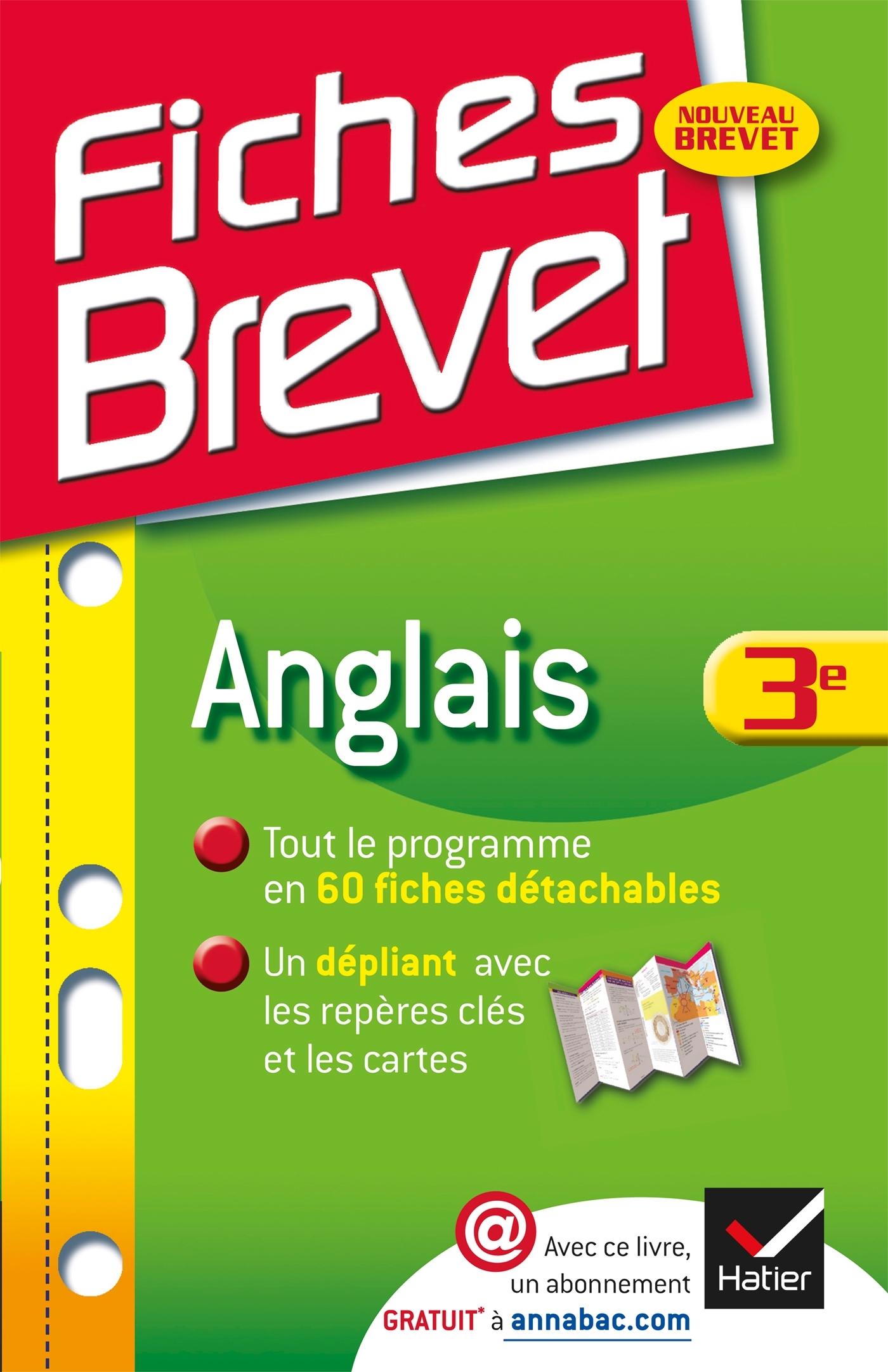 FICHES BREVET ANGLAIS 3E