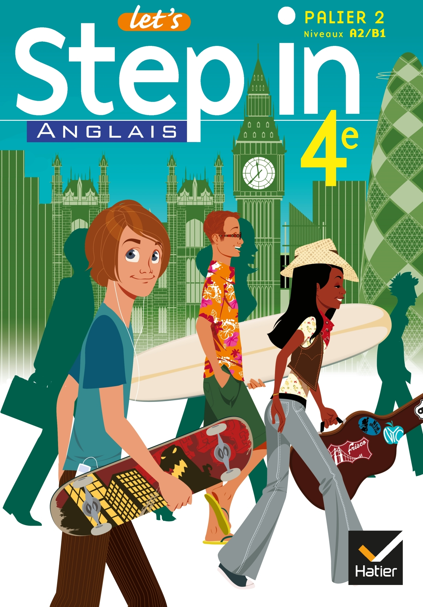 LET'S STEP IN ANGLAIS 4E ED 2008 - MANUEL DE L'ELEVE + CD AUDIO-ROM