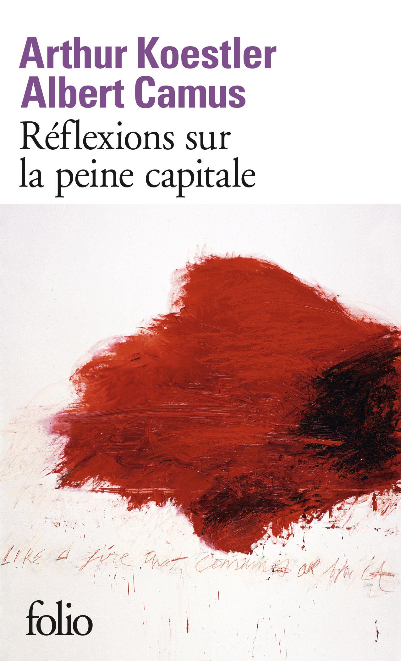 REFLEXIONS SUR LA PEINE CAPITALE