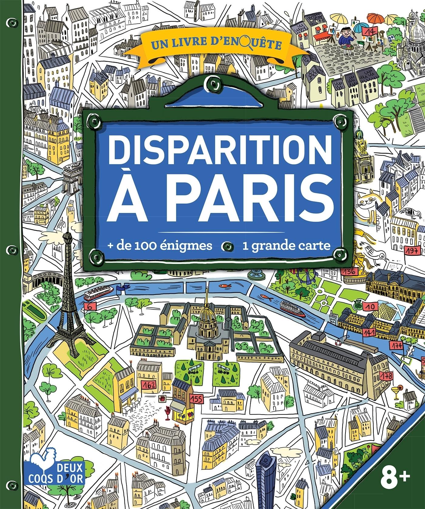 DISPARITION A PARIS - LIVRE AVEC CARTE