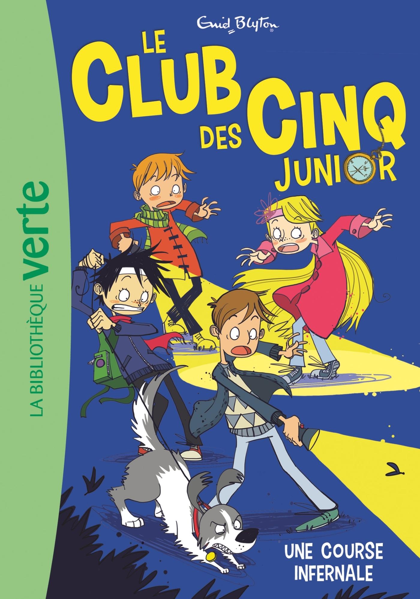 LE CLUB DES CINQ JUNIOR 04 - UNE COURSE INFERNALE