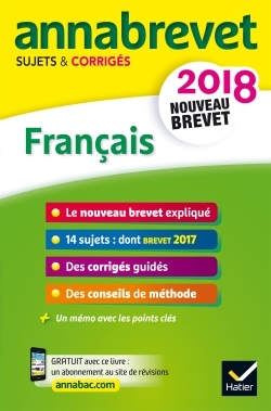 ANNALES ANNABREVET 2018 FRANCAIS 3E