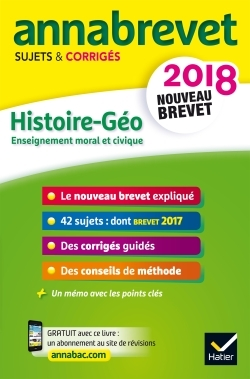 ANNALES ANNABREVET 2018 HISTOIRE GEOGRAPHIE EMC 3E