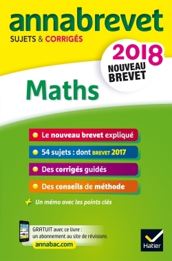ANNALES ANNABREVET 2018 MATHS 3E