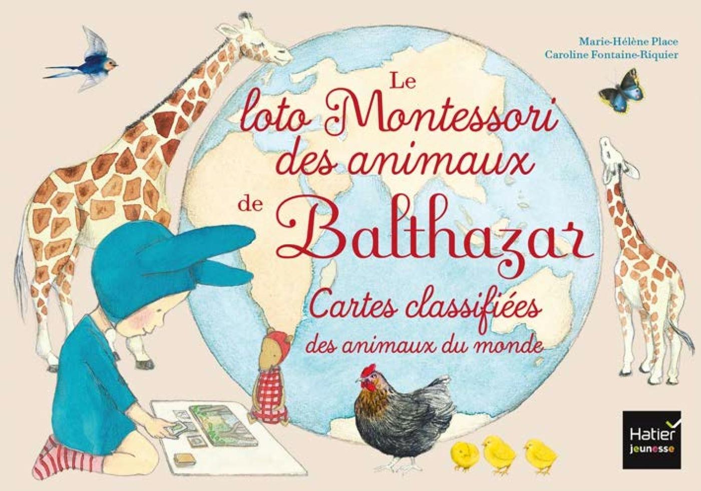JEU 4 : LE LOTO MONTESSORI DE BALTHAZAR - LES ANIMAUX