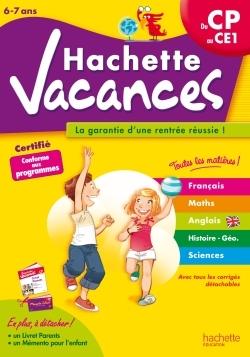 HACHETTE VACANCES - DU CP AU CE1
