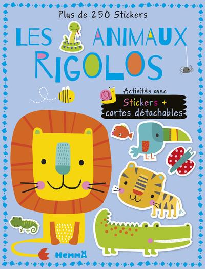 LES ANIMAUX RIGOLOS ACTIVITES AVEC STICKERS + CARTES DETACHABLES