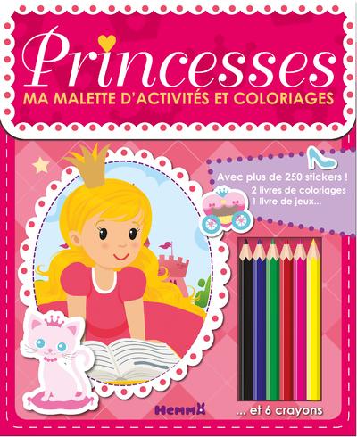 MA MALLETTE D'ACTIVITES ET COLORIAGES PRINCESSES