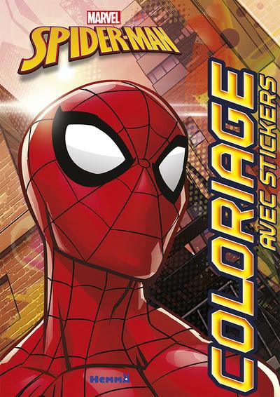 MARVEL SPIDER-MAN COLORIAGE AVEC STICKERS (TETE GROS PLAN)