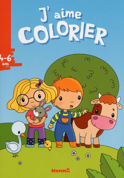J'AIME COLORIER (4-6 ANS) (ANIMAUX DE LA FERME)