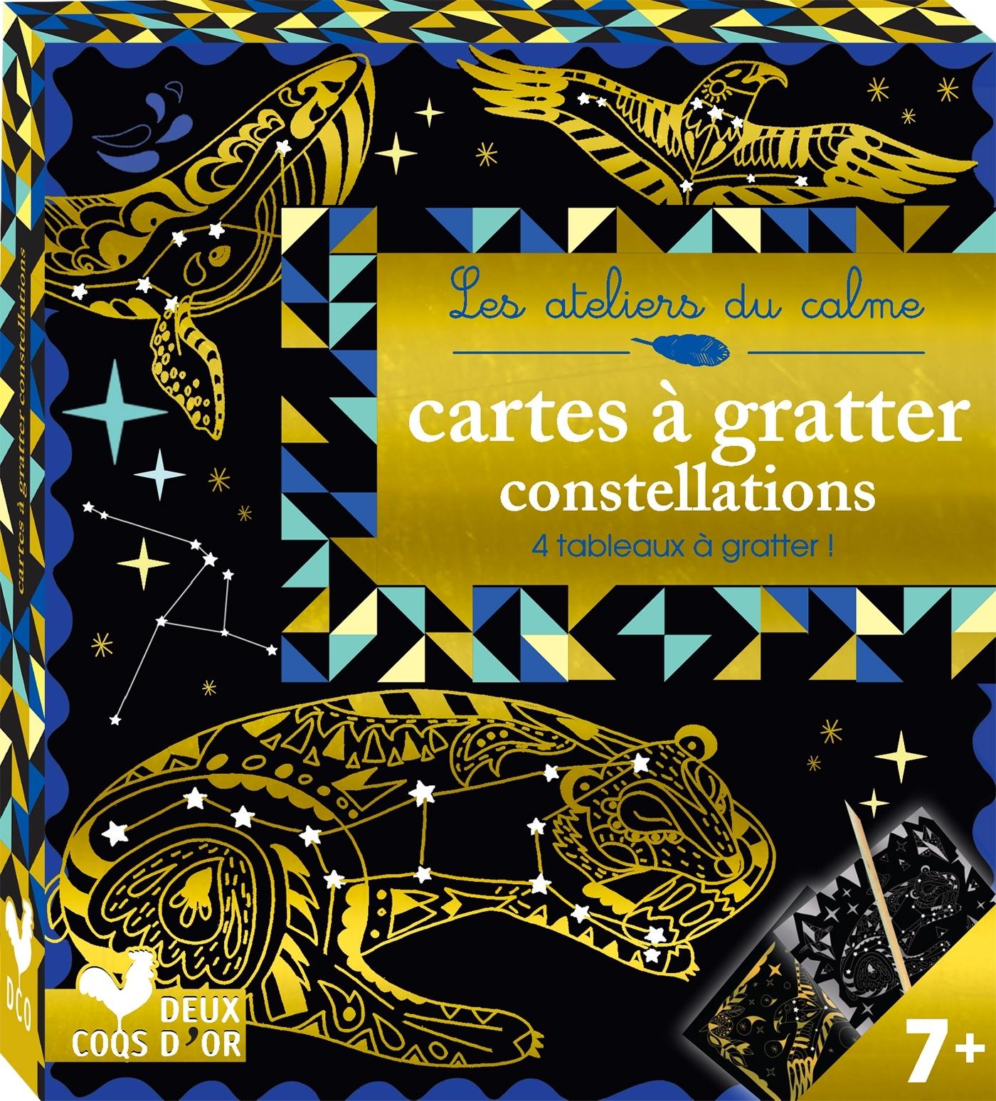 CARTES A GRATTER CONSTELLATIONS - MINI BOITE AVEC ACCESSOIRES