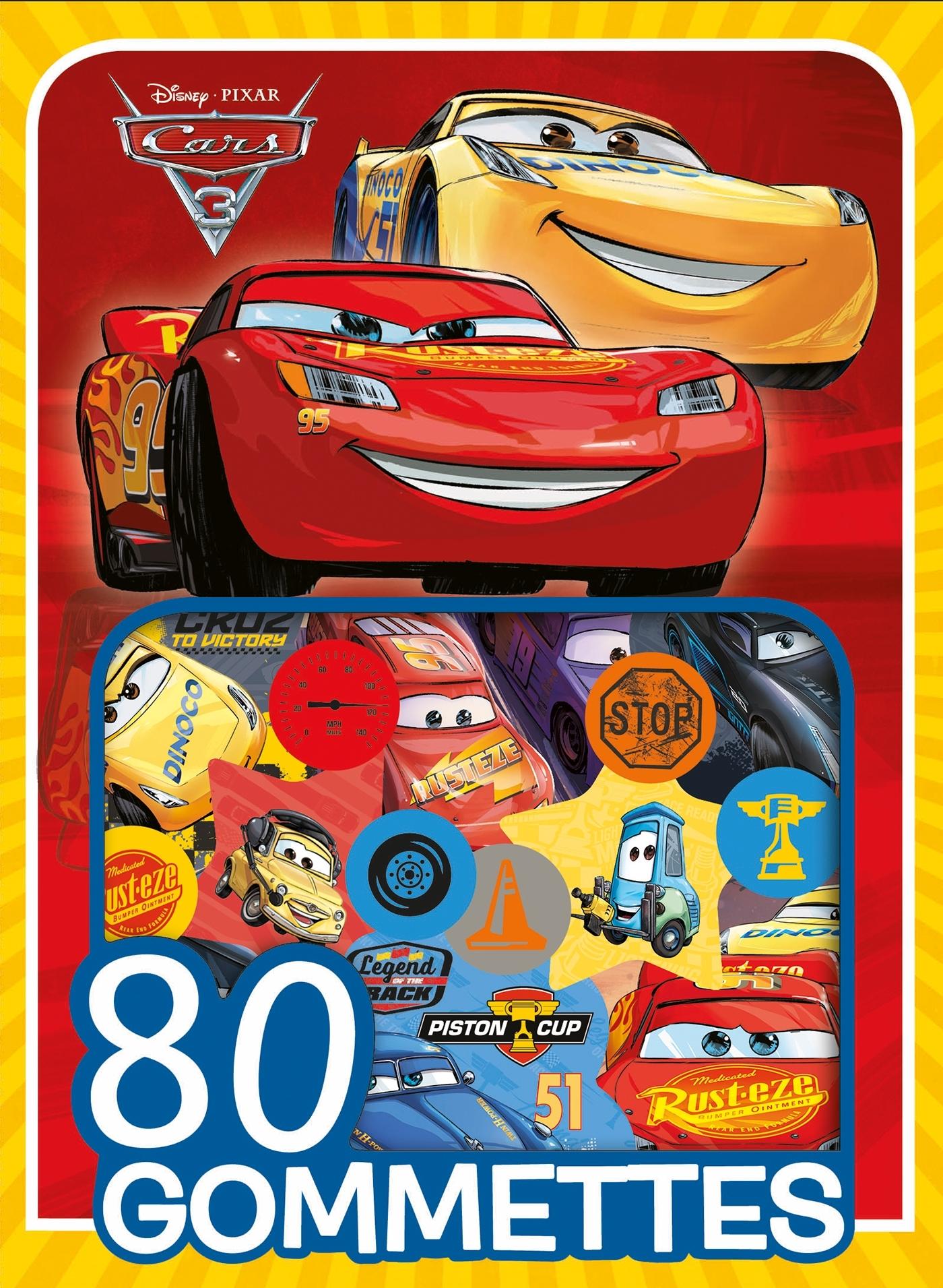 CARS 3 - 80 GOMMETTES DISNEY