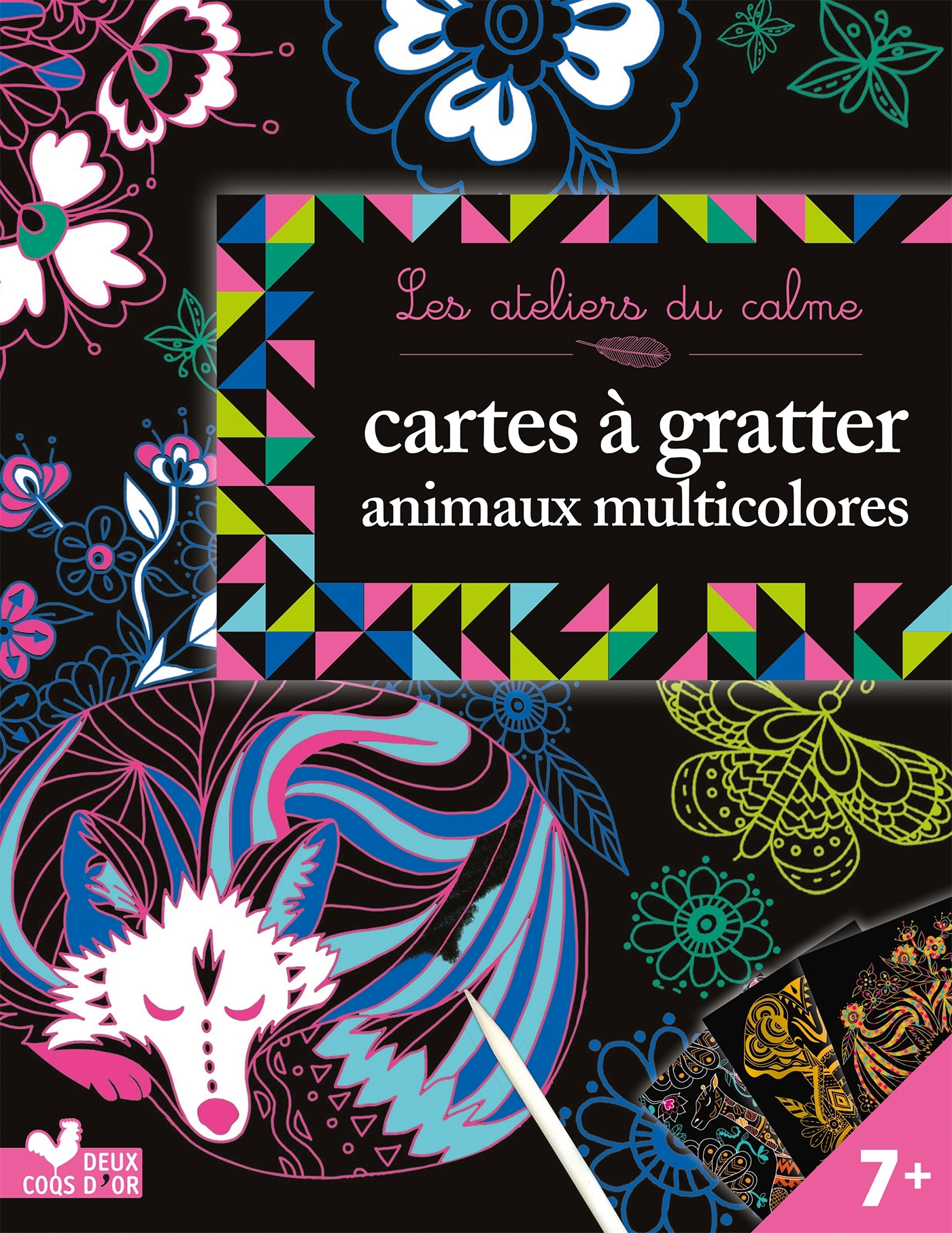 CARTES A GRATTER - ANIMAUX MULTICOLORES