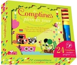 DES COMPTINES PLEIN LES YEUX - COFFRET AVEC LAMPE MAGIQUE
