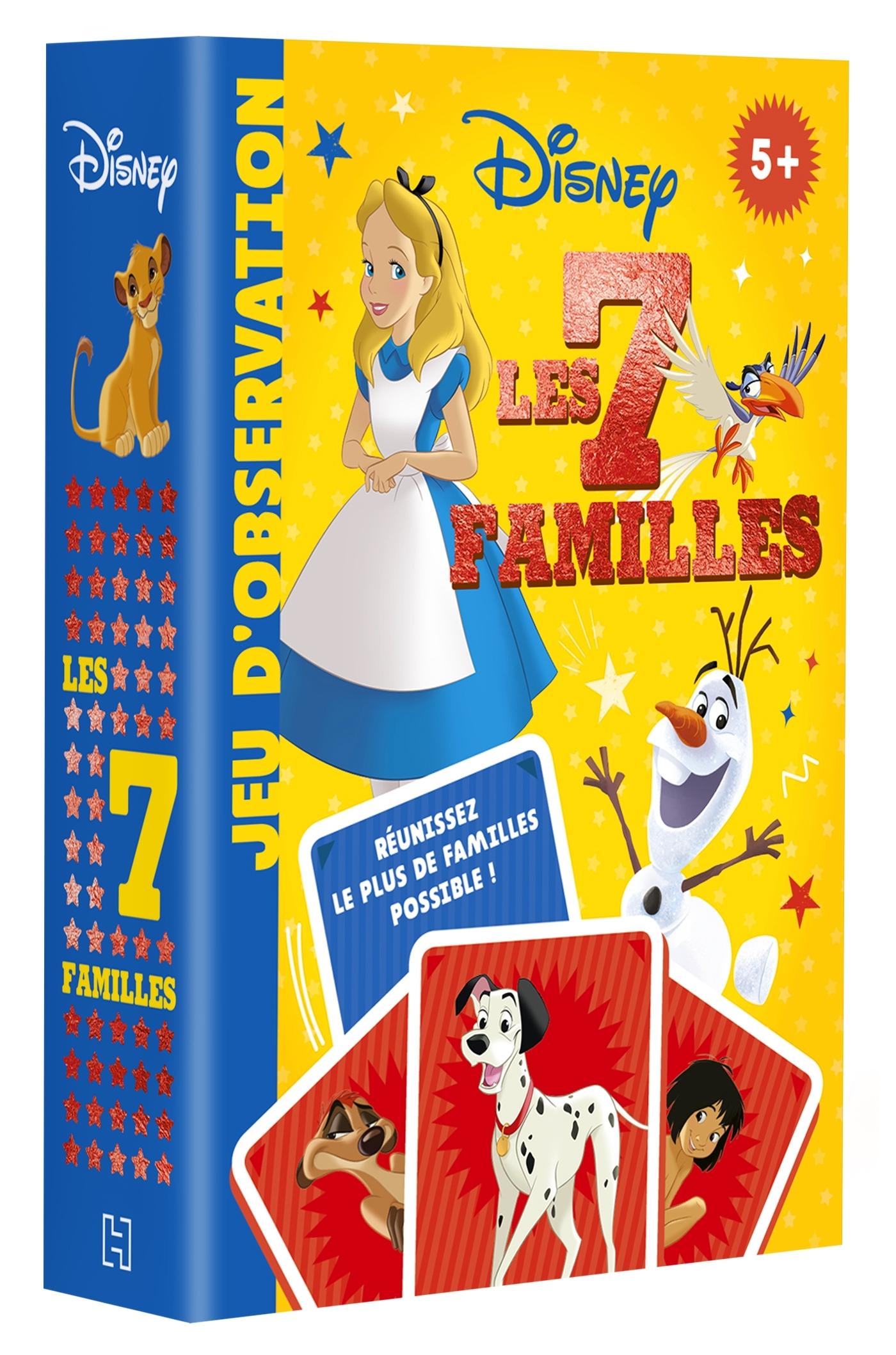 DISNEY - JEUX DE CARTES - 7 FAMILLES